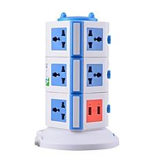 overbelastningsbeskyttelse 5v / 2.1a 3 sal med 11 universelle forretninger og 2 USB uk adapter strømskinner