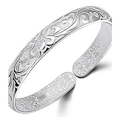 925 Sterling Silver Carpet Of Flowers Bracelet Jewelry