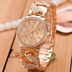 Women's Gold Steel Band with Rhinestone Quartz Analog Wrist Watch (Assorted Colors)