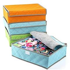 24 Grid Storage Box Bamboo Fiber Underwear Socks(Random Color)
