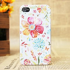 Beautiful Color Floret Pattern Hard Cover Case for iPhone 4/4S