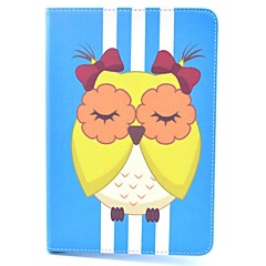 Yellow Owl Cartoon Pattern PU Leather Full Body Case with Stand for iPad Air