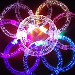 RGB LED blinkande armband designen akryl parti ledde ljus stick (slumpvis färg x1pcs)