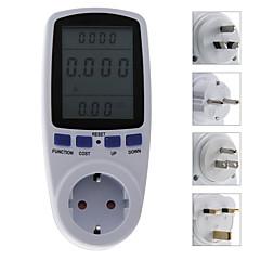 мини ЕС / АС / США / Великобритания подключить энергию питания анализатор гнездо метр плагин ЖК-монитор кВтч Вт Напряжение на выходе метр амперметр