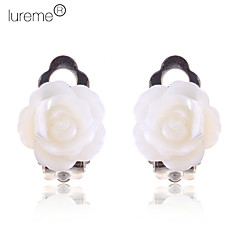 Lureme®Alloy Cowry Rose Pattern Earrings Clip