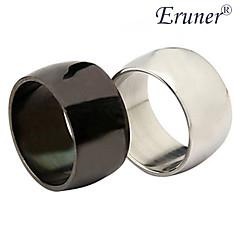 eruner®unisex titanio anello in acciaio ampia superficie