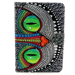 Eye Pattern PU Leather Full Body Case with Stand for iPad mini 1/2/3