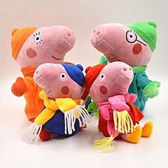 Peppa Pig Baby Pepe George Family Winter Stuffed Toy Plush Doll (4pcs/lot)