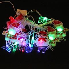 Santa Clausr 5M 4.8W Christmas Flash 20-LED RGB Light Strip Light Lamp (EU Plug , AC 110-220V)