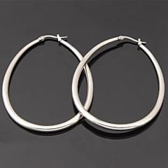 Σκουλαρίκι Κρίκοι Κοσμήματα Γάμου / Πάρτι / Καθημερινά / Causal / Αθλητικά Ανοξείδωτο Ατσάλι Λευκό