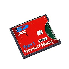 SD SDHC SDXC to High-Speed Extreme Compact Flash CF Type I Adapter For 16/32/64/128 GB