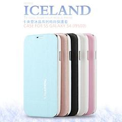 forfremmelse seks iskrystaller serie telefon i læder til Samsung s4 i9500 (assorterede farver)