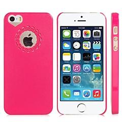 coração moldar o vazamento de volta caso capa para o iPhone 5 / 5s (cores sortidas)
