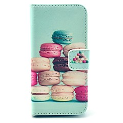 Colorful Cake Pattern PU Leather Stand Case with Card Slot for Samsung Galaxy S4 I9500