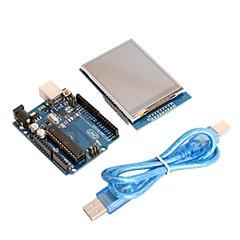 """Πλακέτες UNO R3 + 2.8 """"TFT μονάδα οθόνης αφής LCD ασπίδα για Arduino"""