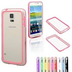 DF Colorful Middle Transparent TPU+PC Bumper for Samsung S5 Mini(Assorted Color)
