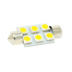 36 χιλιοστά 6x5050 SMD LED 100lm 3000K θερμό λευκό φώτα γιρλάντα θόλο ανάγνωση χάρτη πινακίδα λάμπα για αυτοκίνητο (DC 12V)