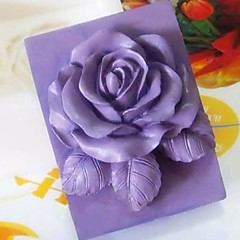 Rose Flower Shaped Fondant Cake Chocolate Silicone Mold Cake Decoration Tools,L9.3cm*W9cm*H3.8cm