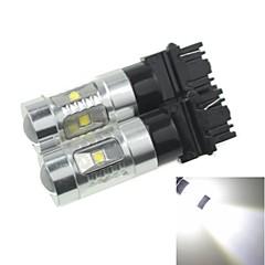 2x 3157 w2.5x16q p27 30W 6xcree 6500K 2100lm הלבן הקר לאיתות מכונית אור (AC / dc12v-24)