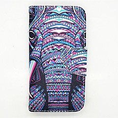 The Elephant Pattern PU Leather Full Body Case With Card Slot and Stand  for Samsung Galaxy S5 mini