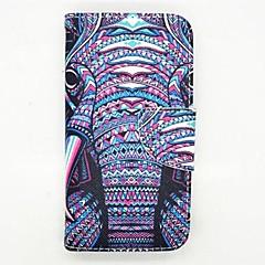 der Elefant-Muster PU-Leder Ganzkörper-Fall mit Kartensteckplatz und stehen für Samsung Galaxy Mini s5