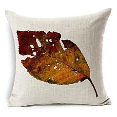kuoleva lehtien puuvilla / pellava koriste tyyny