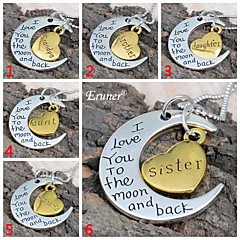 """Eruner® 2015 Valentine's Day """" I Love You To The Moon and Back"""" Pendant Necklace Women Girl Gift"""