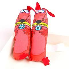 Zabawka dla psa Zabawki dla zwierząt Zabawki do żucia Kreskówka Pies Tekstylny Czerwony