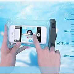 Custodia impermeabile 15m sacchetto del telefono subacquea PVC con fascia di braccio e cordino per il iphone 4 / 4s / 5 / 5s / 5c / 6/6 + e gli altri