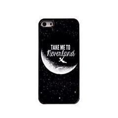 leve-me para Neverland hard case de alumínio design para iPhone 5 / 5s