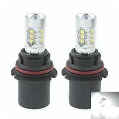 2 x 9004 HB1 P29T 80W 16xCREE Cold White 4500LM 6500K for Car Fog Light (AC/DC12V-24)
