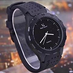 moda casual de lujo del cuarzo del dial grande de los hombres caja redonda relojes deportivos negocios militares
