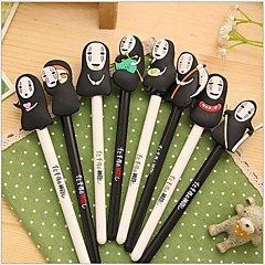 Spirited Away Mask Man Black Ink Gel Pen(1 PCS Random Color)