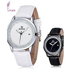 Bayanların Moda Saat Japon Kuvartz Deri Bant Işıltılı Siyah / Beyaz / Kırmızı / Kahverengi Marka- SKONE
