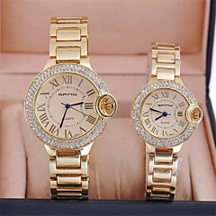 Couple's   Fashion Simple Ultrathin Steel Watch   Circular High Quality Japanese Watch Movement(Assorted Colors)