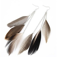 Drop EarringsJewelry Alloy / Feather Party / Daily