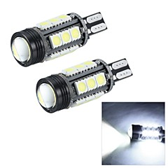 Merdia T15 7W 180LM 16x5050SMD LED and 1 Condenser Lens White Light Reversing Lamp / Brake  Light (12V / Pair)
