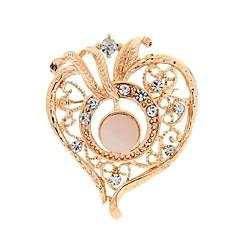 muoti romanttinen sydämen muotoinen strassi rintakoruja satunnainen väri