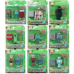 Minecraft 3D Steve Hanger Creeper Iron Golem Model Action Figure with Accessories (9pcs / lot)