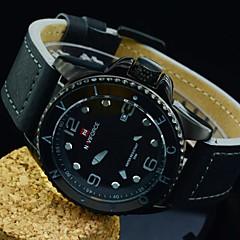 esportes clássicos relógio de quartzo pulseira de couro de alta qualidade relógio de pulso à prova d'água dos homens