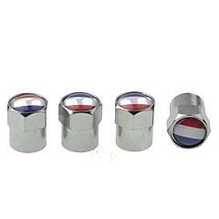 럭셔리 자동차 타이어 국기 구리 밸브 장식 캡 (프랑스 팩 당 4 개)