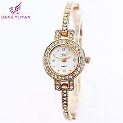 Women's Round Dial Alloy Rhinestones Quartz Wristwatch Cool Watches Unique Watches