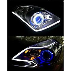 2pcs 60mm 5W 400-500lm luz de marcha diurna de color blanco coche poder más elevado llevó la lámpara de luz (dc12v)
