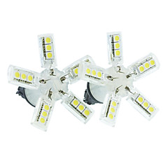 3156 (P27W W2.5X16D) 4W 20x5050SMD 260-290LM  6500-7500K White Spider Light for Car Brake&Down Lights(DC 12V/ 2pcs)