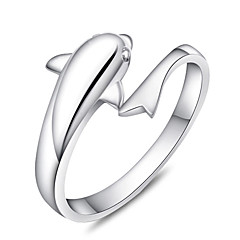 Ring Adjustable Party Jewelry Sterling Silver Women Statement Rings 1pc,One Size Silver