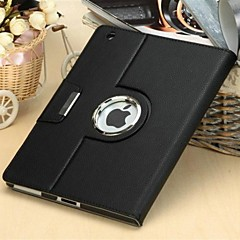 High Quality Litchi Pattern PU Protect Holster with Buckle and 360 Degree Rotation for iPad mini