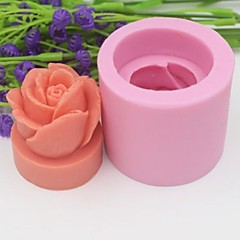 3D Rose Flower Shaped Fondant Cake Chocolate Silicone Mold Cake Decoration Tools,L5cm*W5cm*H4.3cm
