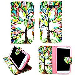 Mert Samsung Galaxy tok Kártyatartó / Állvánnyal / Flip / Minta / Mágneses Case Teljes védelem Case Fa Műbőr Samsung A3