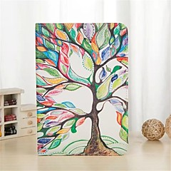 Colorful Tree Pattern PU Leather Full Body Case with Stand and Card Slot for iPad mini 1/2/3