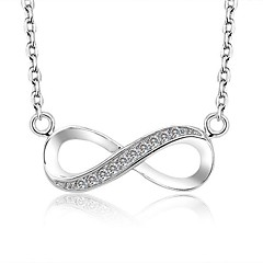 Brand 8-Shaped Top Quality Women Jewelry Hot Sale 925 Sterling Silver Lady Pendant Necklace